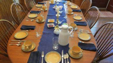 تصویر از چیدمان میز از نوع آمریکایی
